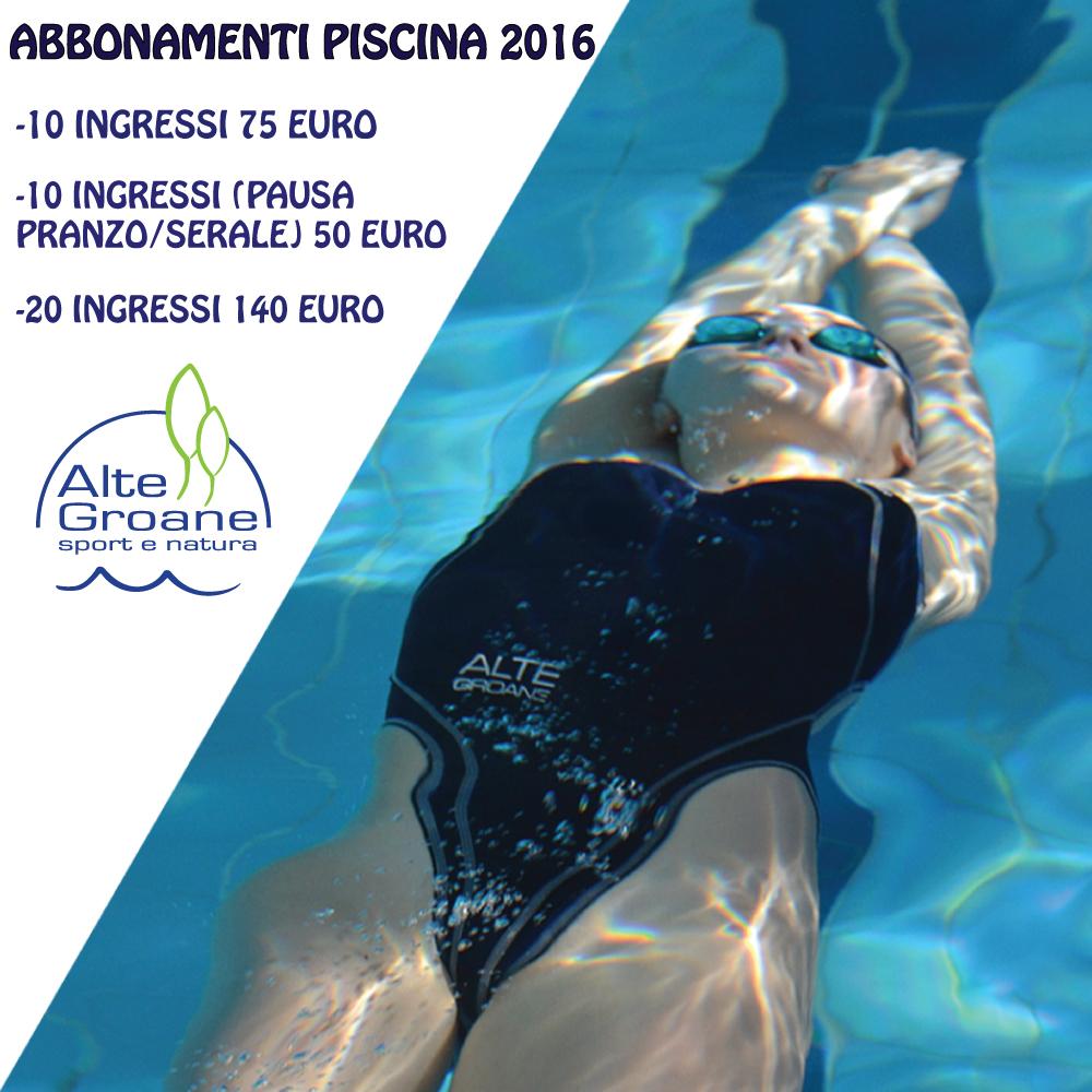 Info abbonamenti nuoto libero alte groane - Piscina trezzano sul naviglio nuoto libero ...