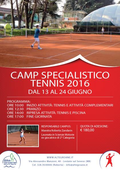 Camp specialistico tennis alte groane - Piscina lentate sul seveso ...